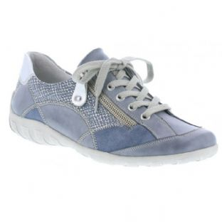 Remonte R3405-14 Ladies Blue Combination Shoes With Zipper